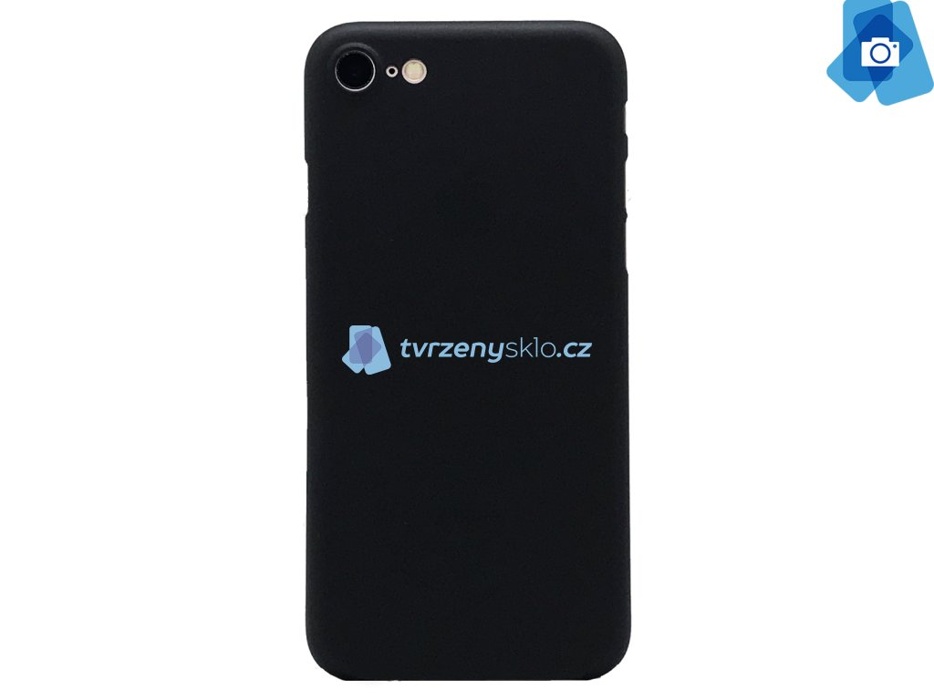 Ultratenký, Plastový, Pevný kryt na iPhone 7, iPhone 8 Černý