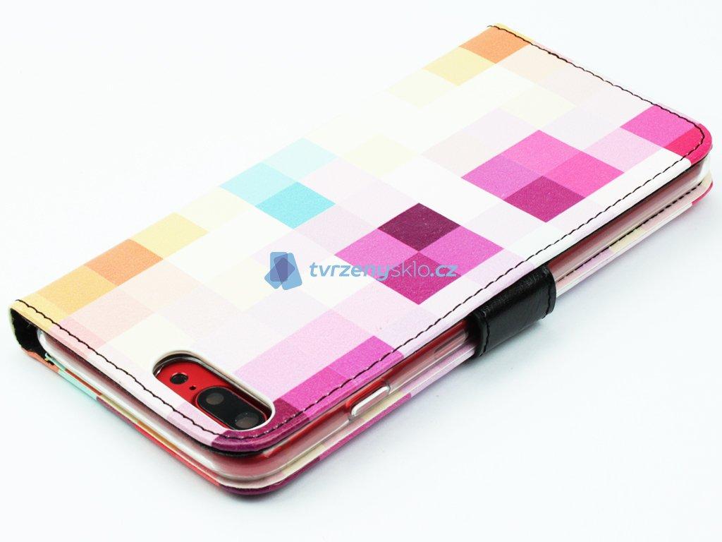 Pouzdro typu kniha FIXED Opus pro Apple iPhone 7, 8 Plus motiv Dice