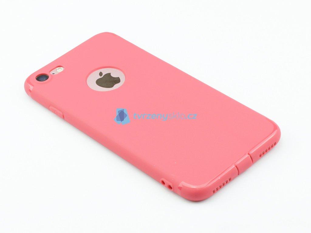 Gumový, Matný kryt na iPhone 7, iPhone 8 Růžový