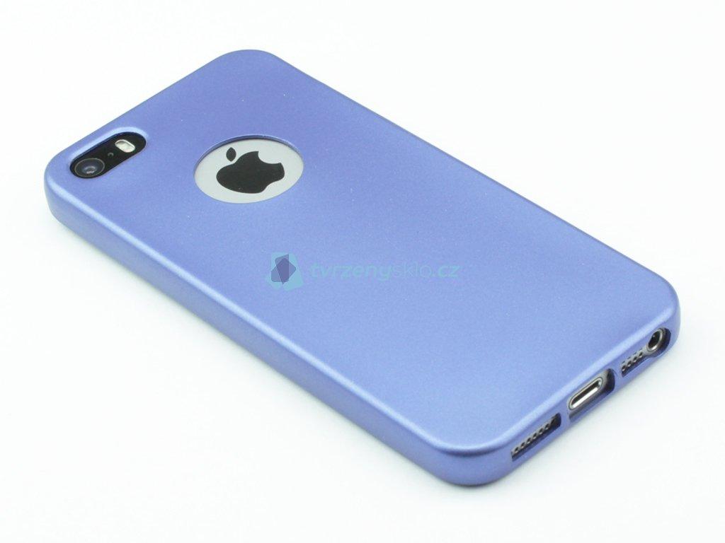 Pevný, Gumový kryt pro iPhone 5,5s,SE Modrý