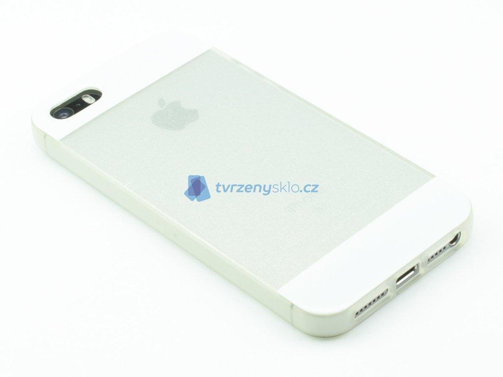 Třpitkový, Gumový kryt pro iPhone 5,5s,SE Bílý