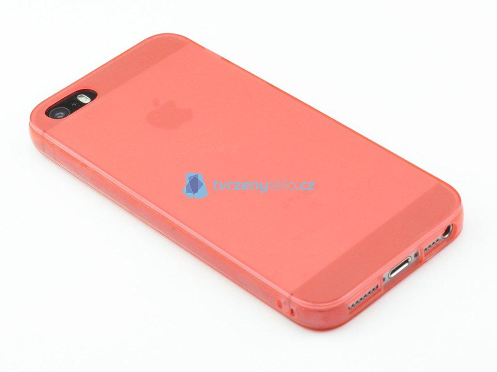 Gumový kryt pro iPhone 5,5s,SE Červený