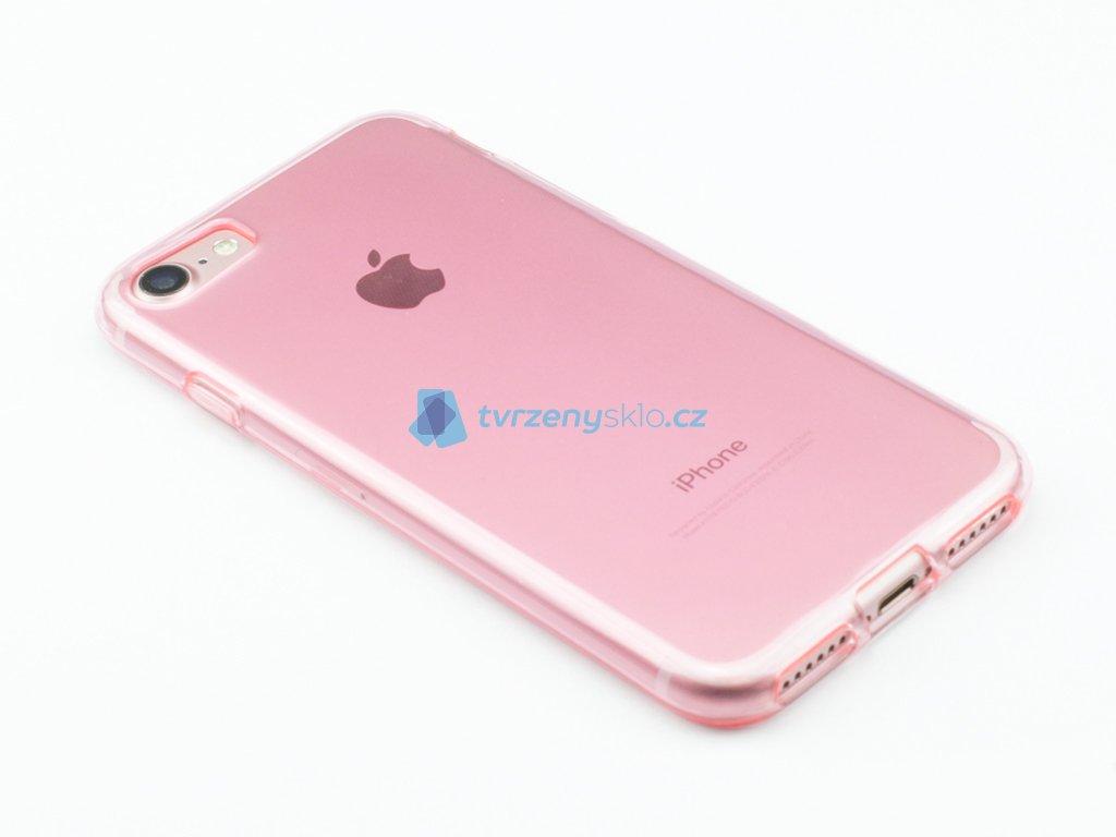 Pevný, Gumový ochranný kryt na iPhone 7, iPhone 8 Růžový