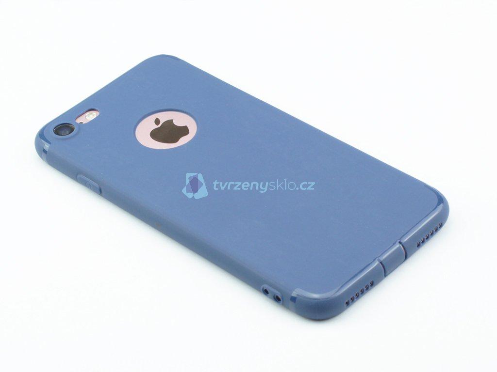 Gumový, Matný kryt na iPhone 7, iPhone 8 Modrý