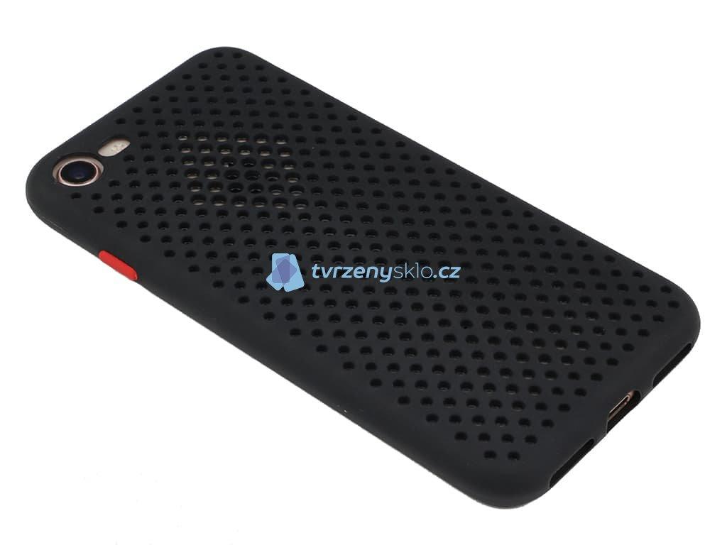 Gumový, Matný kryt na iPhone 7 iPhone 8 Černý 1