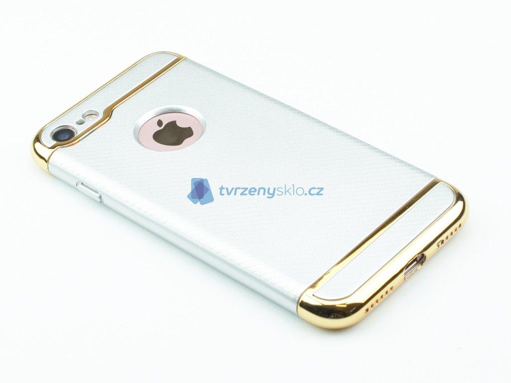 Karbonové pouzdro na iPhone 7 a iPhone 8 Stříbrné