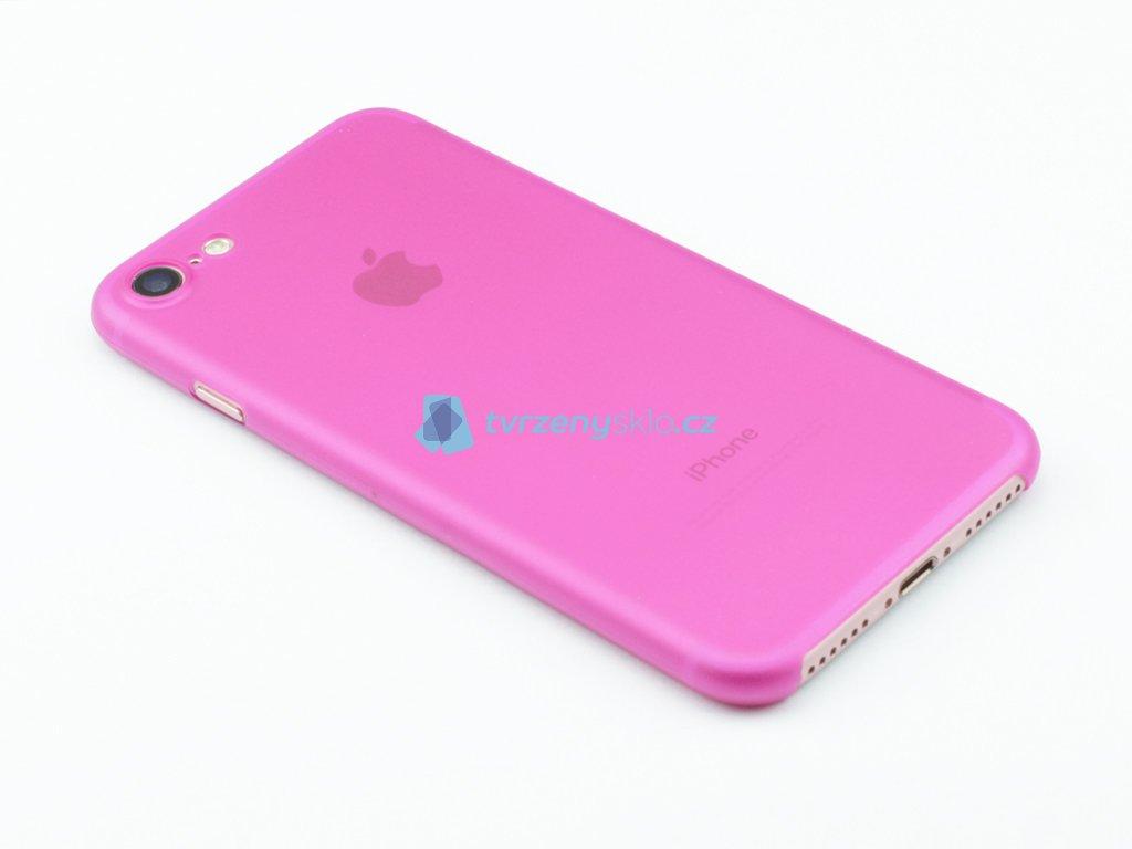 Ultratenký, Plastový, Pevný kryt na iPhone 7, iPhone 8 Růžový