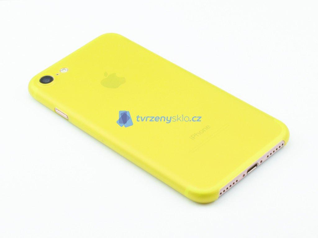 Ultratenký, Plastový, Pevný kryt na iPhone 7, iPhone 8 Žlutý