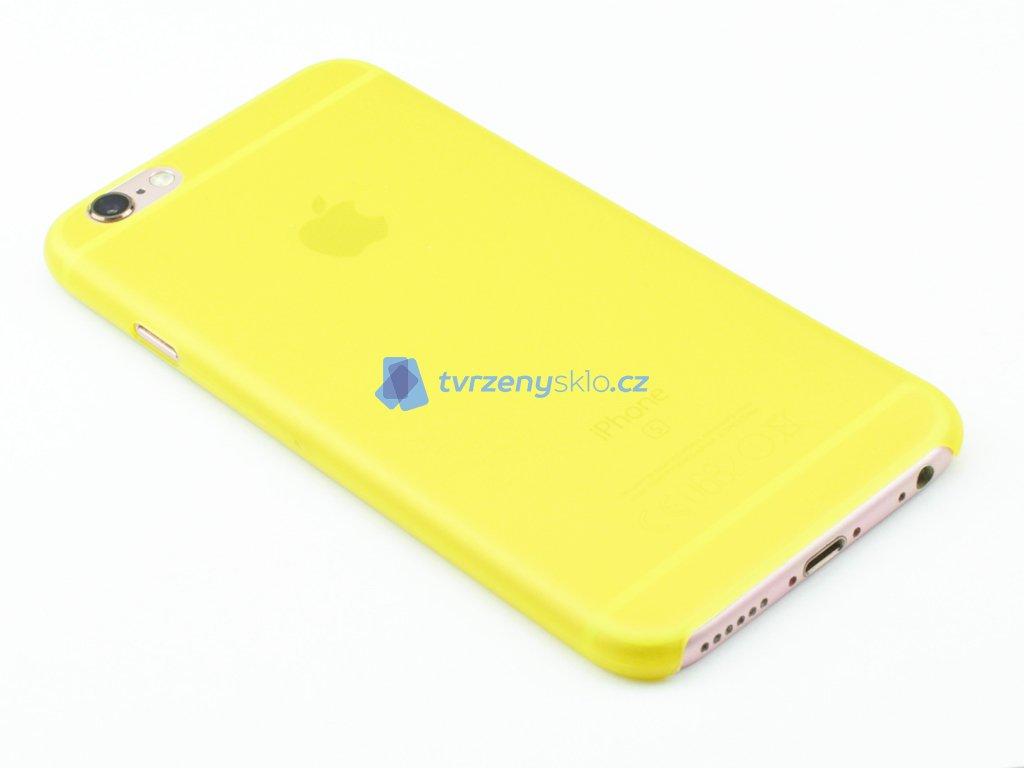 Tenký plastový kryt pro iPhone 6, iPhone 6s Žlutý