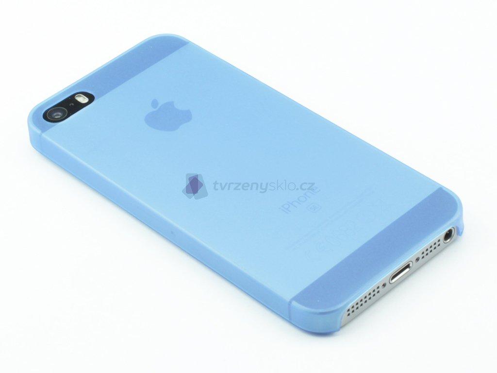 Tenký Plastový kryt na iPhone 5,5s,SE Modrý