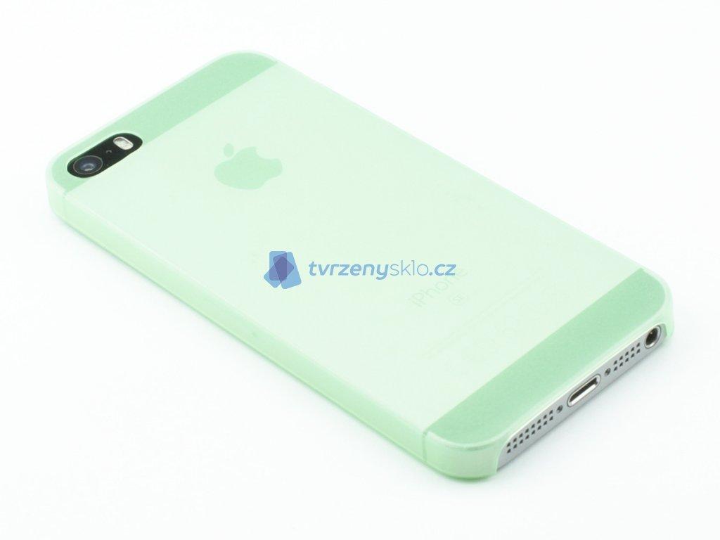 Tenký Plastový kryt na iPhone 5,5s,SE Zelený