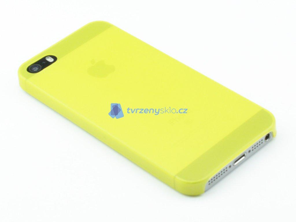 Tenký Plastový kryt na iPhone 5,5s,SE Žlutý