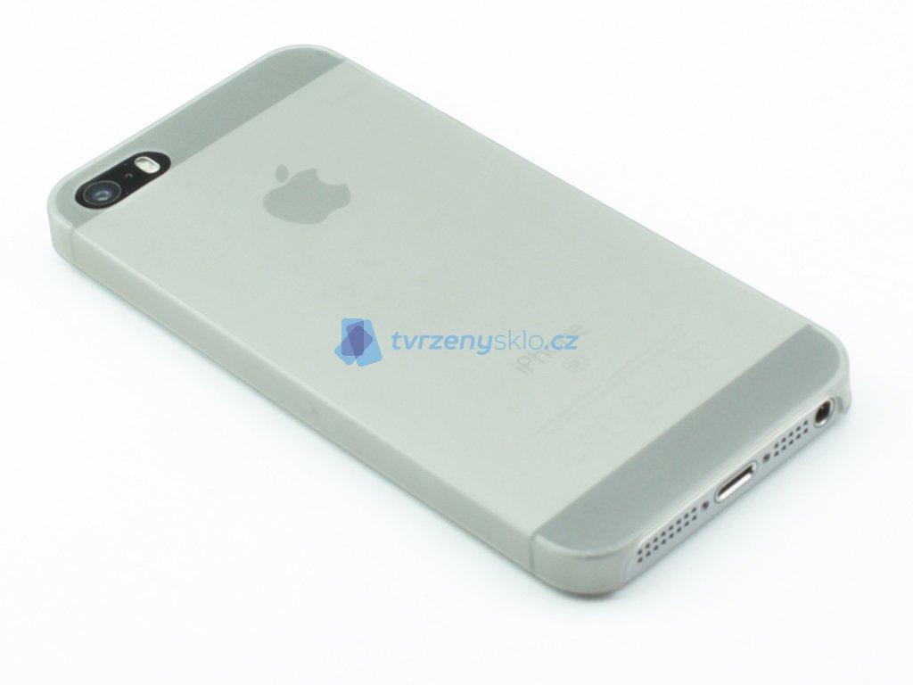 Tenký Plastový kryt na iPhone 5,5s,SE Šedý