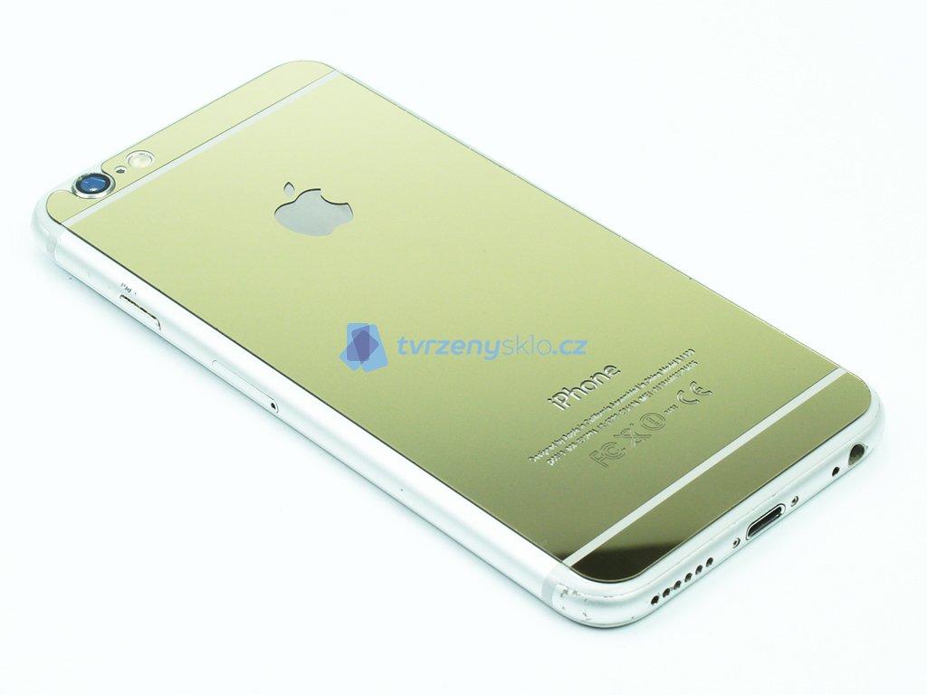 Barevné tvrzené sklo pro iPhone 6,6S na přední i zadní část Zlaté 1