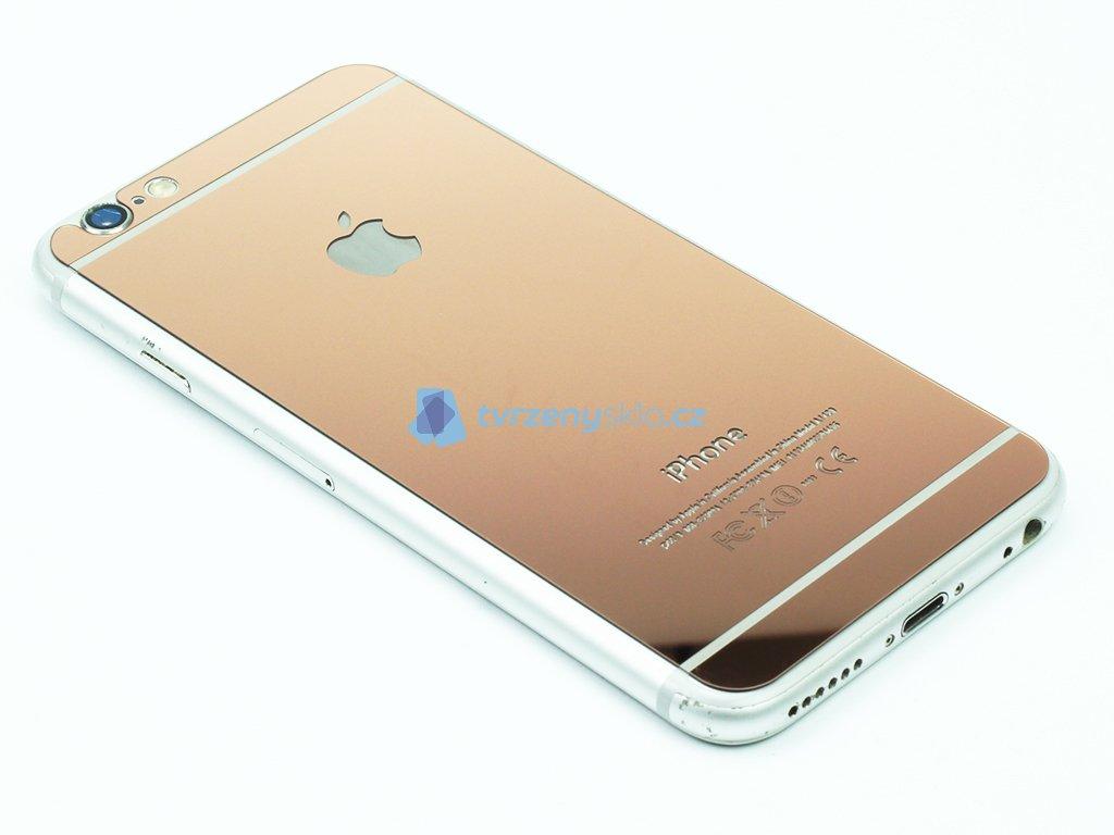 Barevné tvrzené sklo pro iPhone 6,6S na přední i zadní část Růžové 1