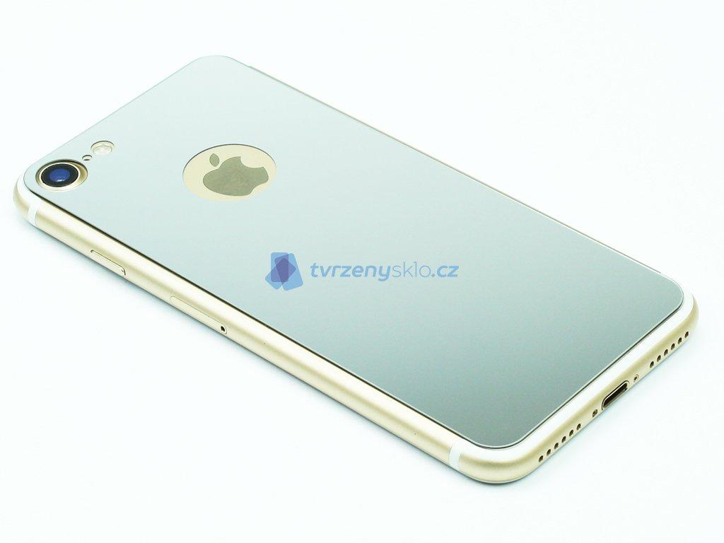 Barevné Tvrzené sklo pro iPhone 7,8 na přední i zadní část Stříbrné 1