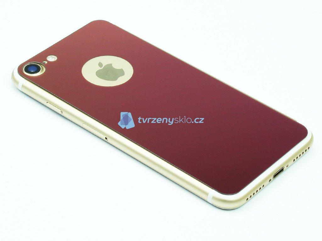 Barevné Tvrzené sklo pro iPhone 7,8 na přední i zadní část Růžové 1