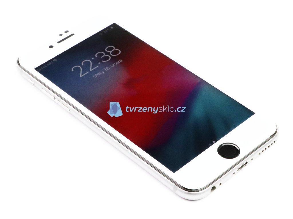 3D Tvrzené sklo pro iPhone 6/6s Plus - Premium - Bílé