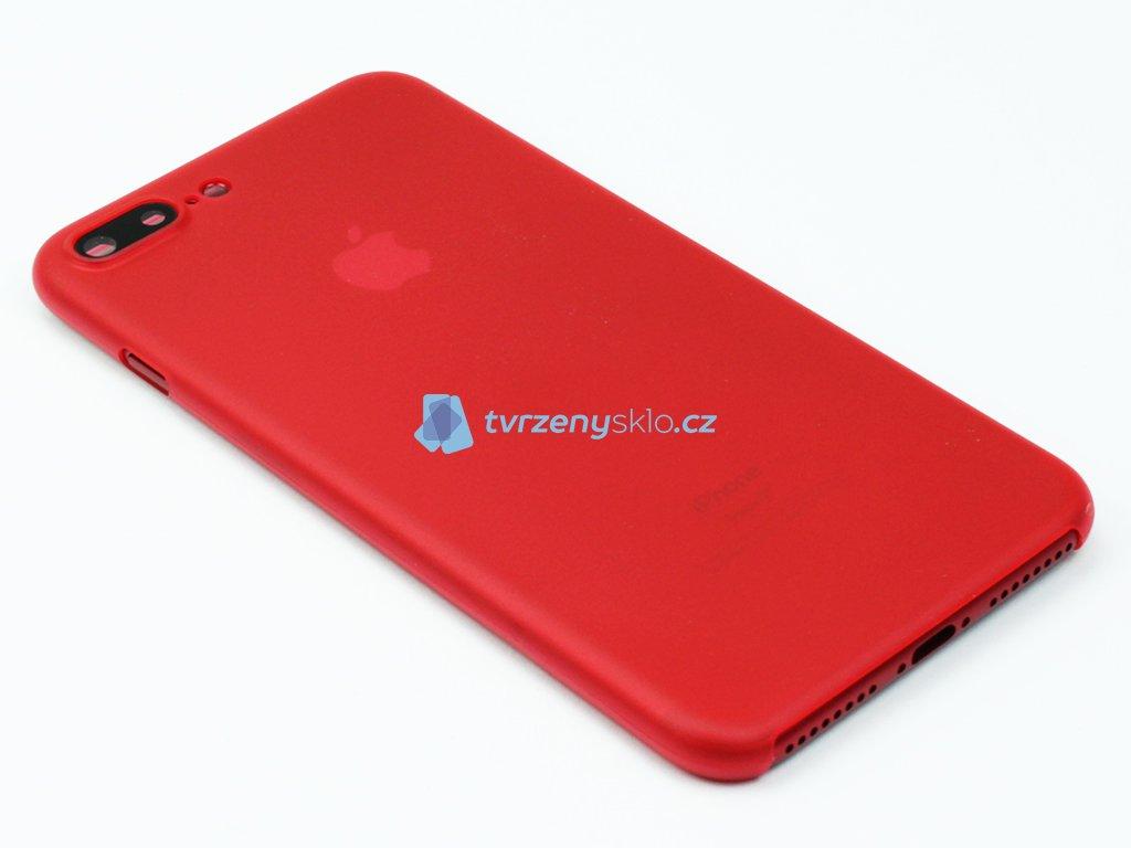 Tenký Plastový kryt pro iPhone 7 Plus, iPhone 8 Plus Červený