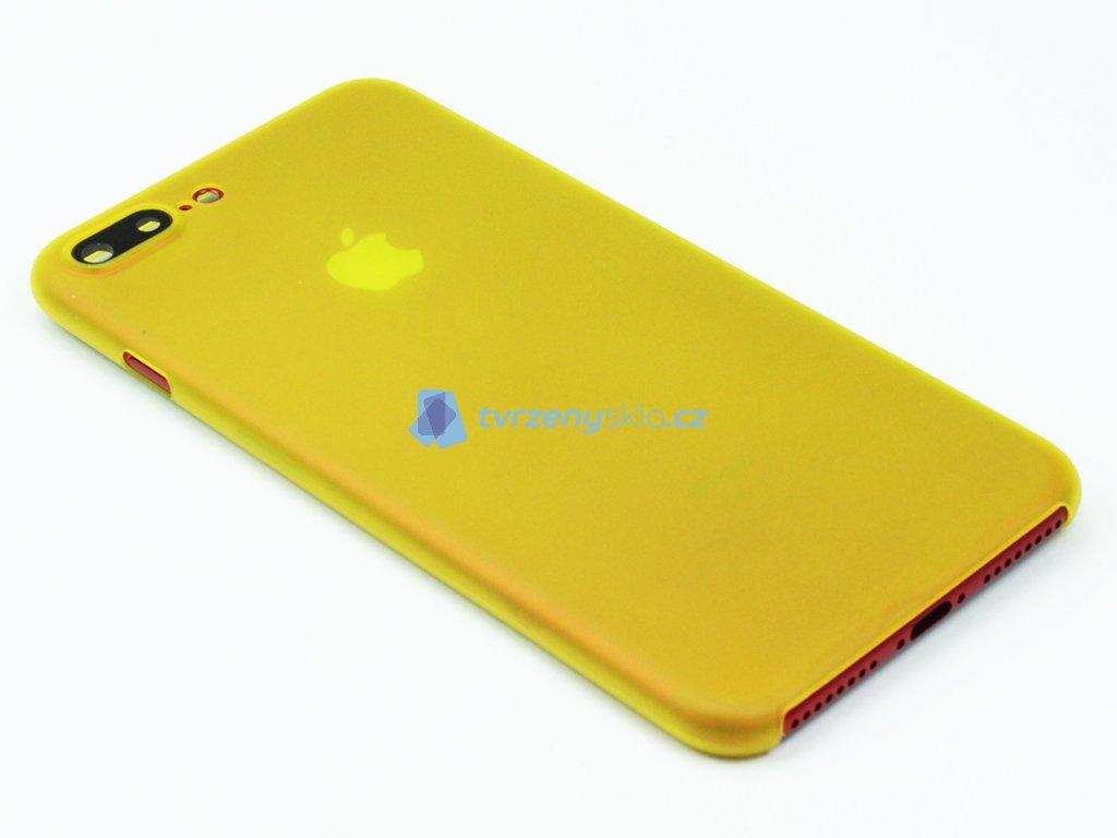 Tenký Plastový kryt pro iPhone 7 Plus, iPhone 8 Plus Žlutý