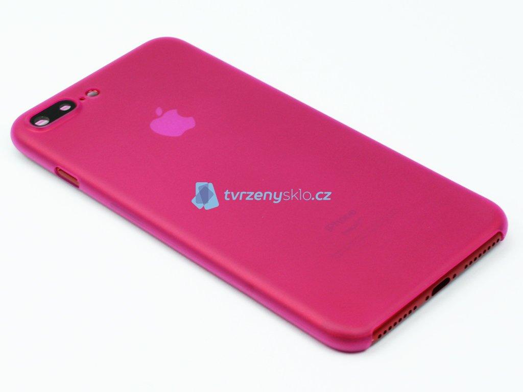 Tenký Plastový kryt pro iPhone 7 Plus, iPhone 8 Plus Růžový