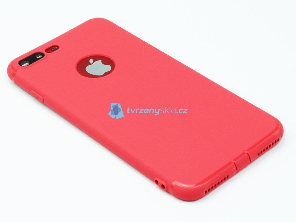 Gumový, Matný kryt na iPhone 7 Plus, 8 Plus Červený