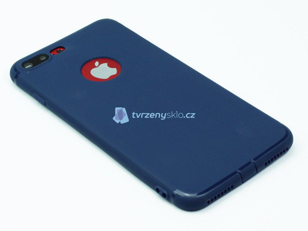 Gumový, Matný kryt na iPhone 7 Plus, 8 Plus Modrý