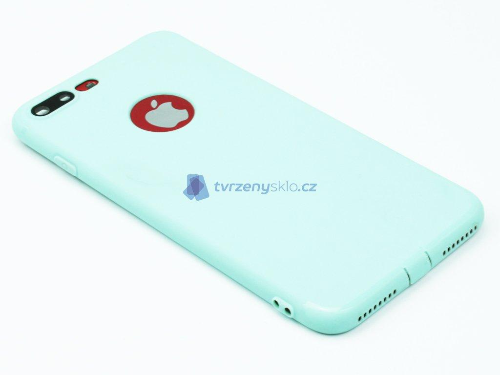 Gumový, Matný kryt na iPhone 7 Plus, 8 Plus Mentolový