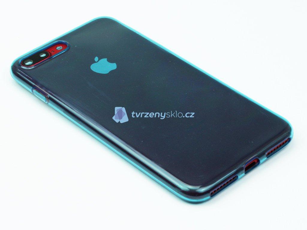 Pevný, Gumový kryt na iPhone 7 Plus, iPhone 8 Plus Modrý