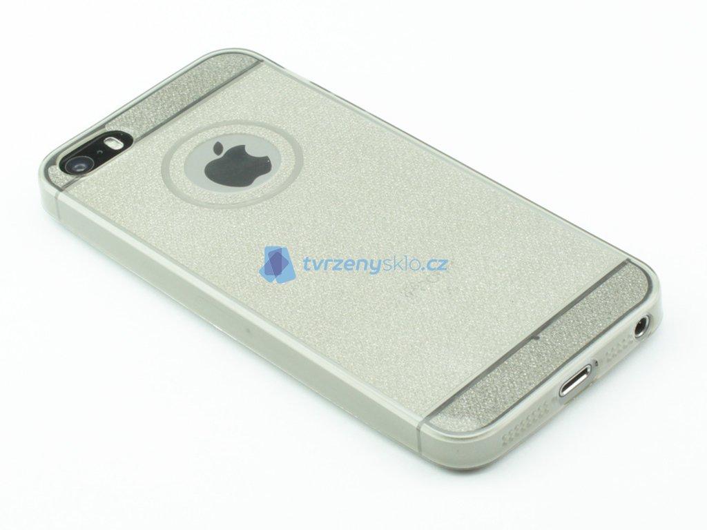 Třpytkový Gumový kryt pro iPhone 5,5s,SE Černé