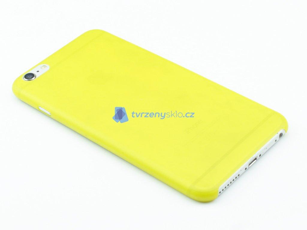 Tenký Plastový kryt pro iPhone 6 Plus, 6s Plus Žlutý