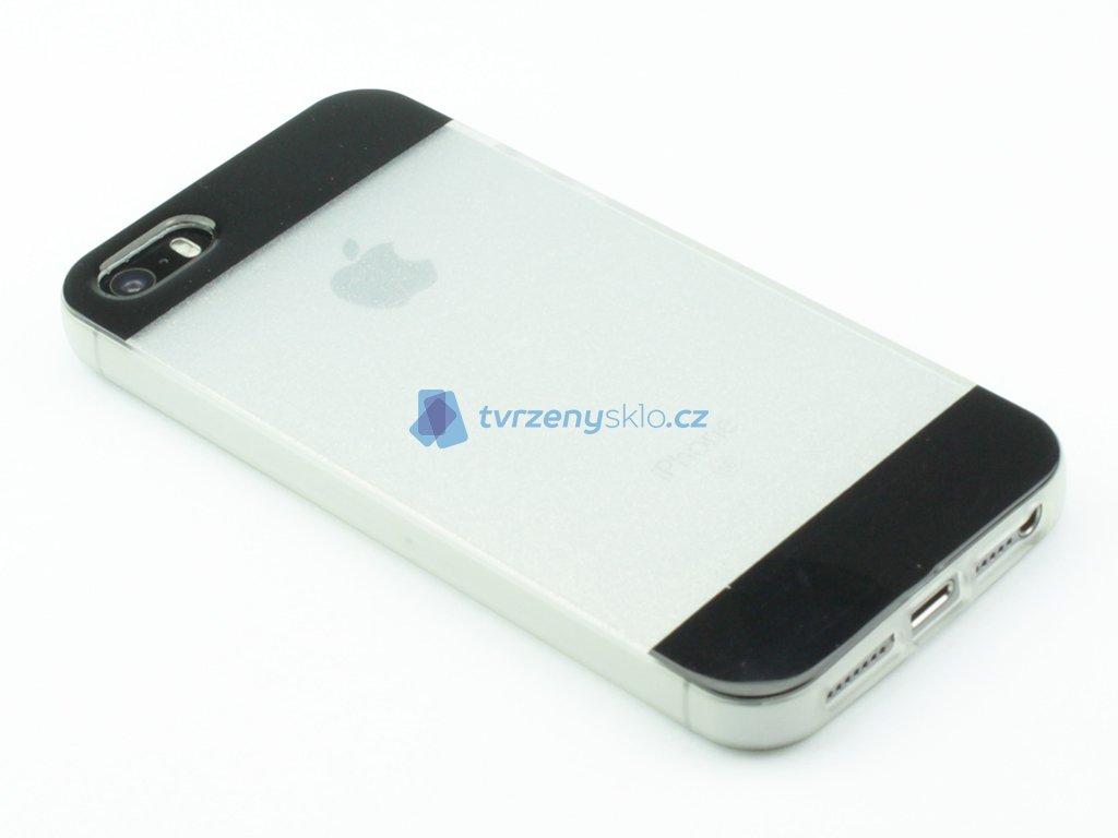 Třpitkový, Gumový kryt pro iPhone 5,5s,SE Černý