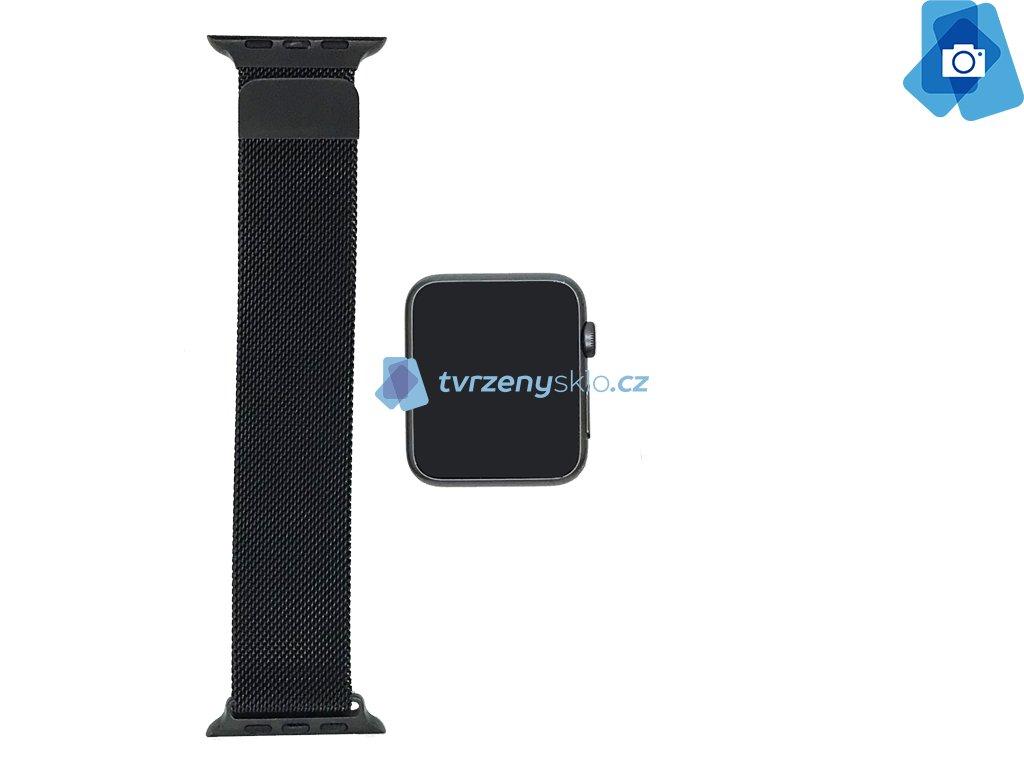 Luxusní Ocelový řemínek pro Apple Watch 42mm Černý
