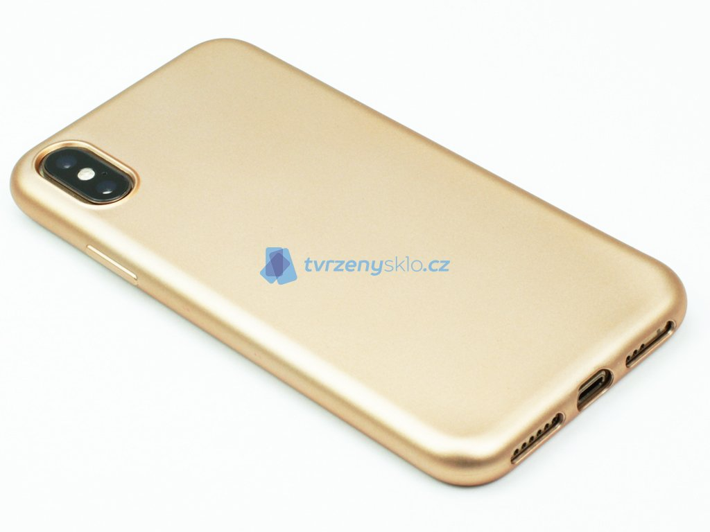Pevný, GumovoSilikonový kryt pro iPhone X,XS RůžovoZlatý