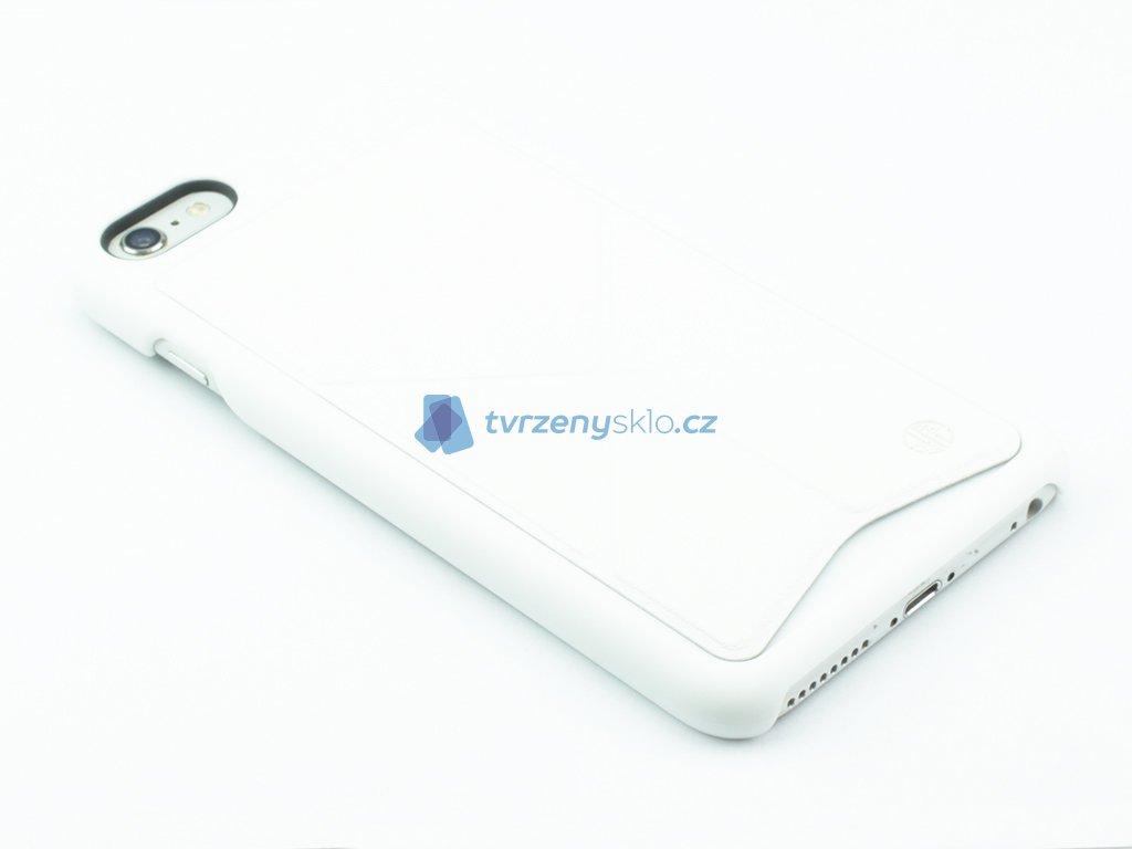 Plastovokožený kryt na iPhone 6 Plus, 6s Plus se stojánkem Bílý