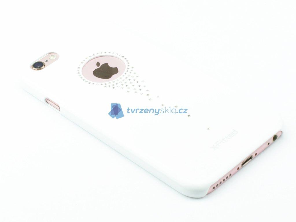 Plastový kryt s ozdobnými kamínky pro iPhone 6,6s Bílý