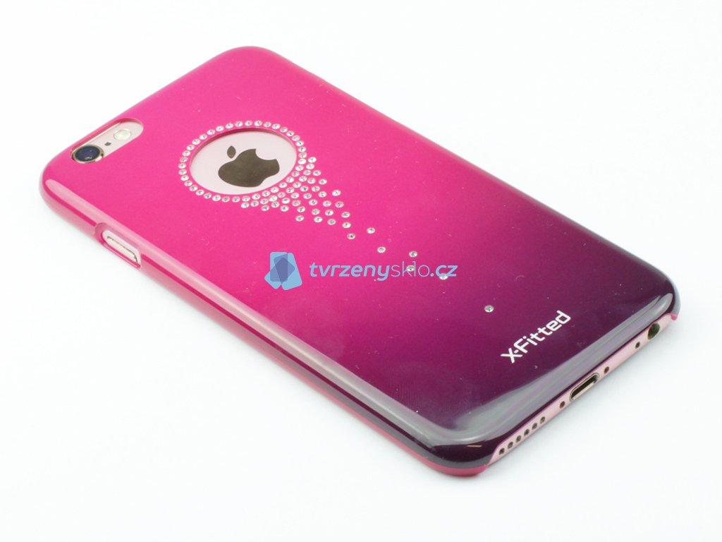 Plastový kryt s ozdobnými kamínky pro iPhone 6,6s Růžový