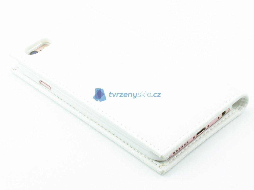 Zavírací pouzdro pro iPhone 6,6s z TPU kůže Bílé