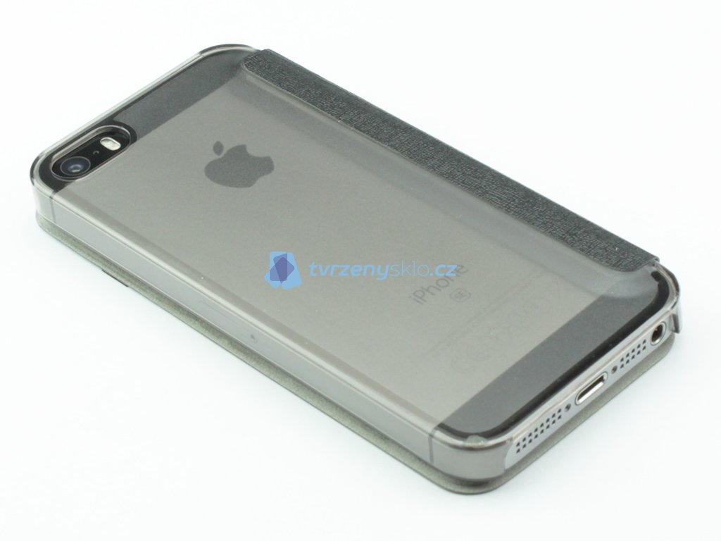 Zavírací pouzdro pro iPhone 5,5s,SE plastovokožené Černé