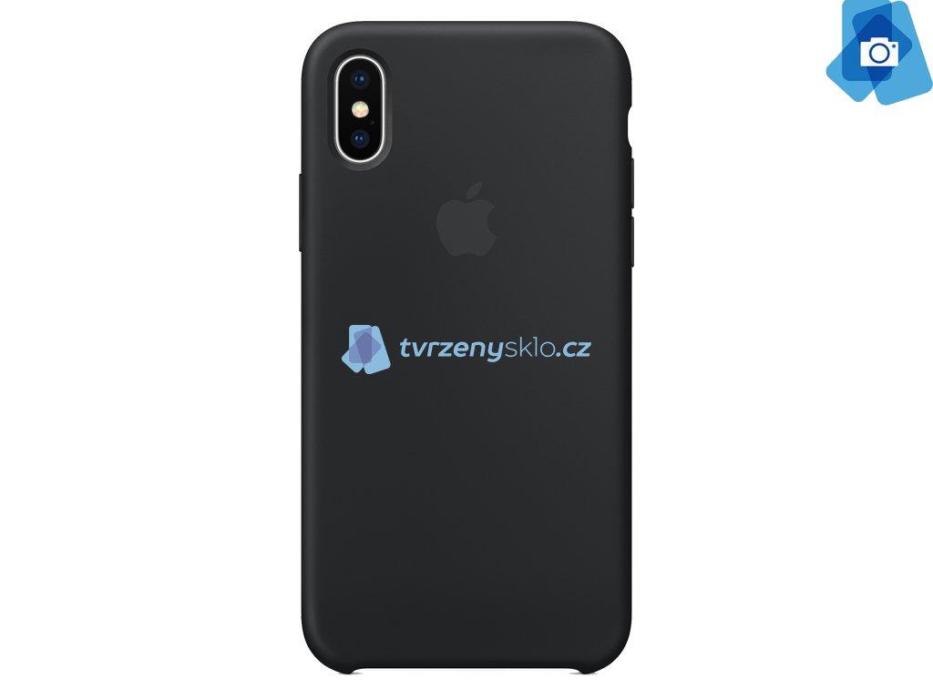 Silikonový kryt na Apple iPhone X Černý