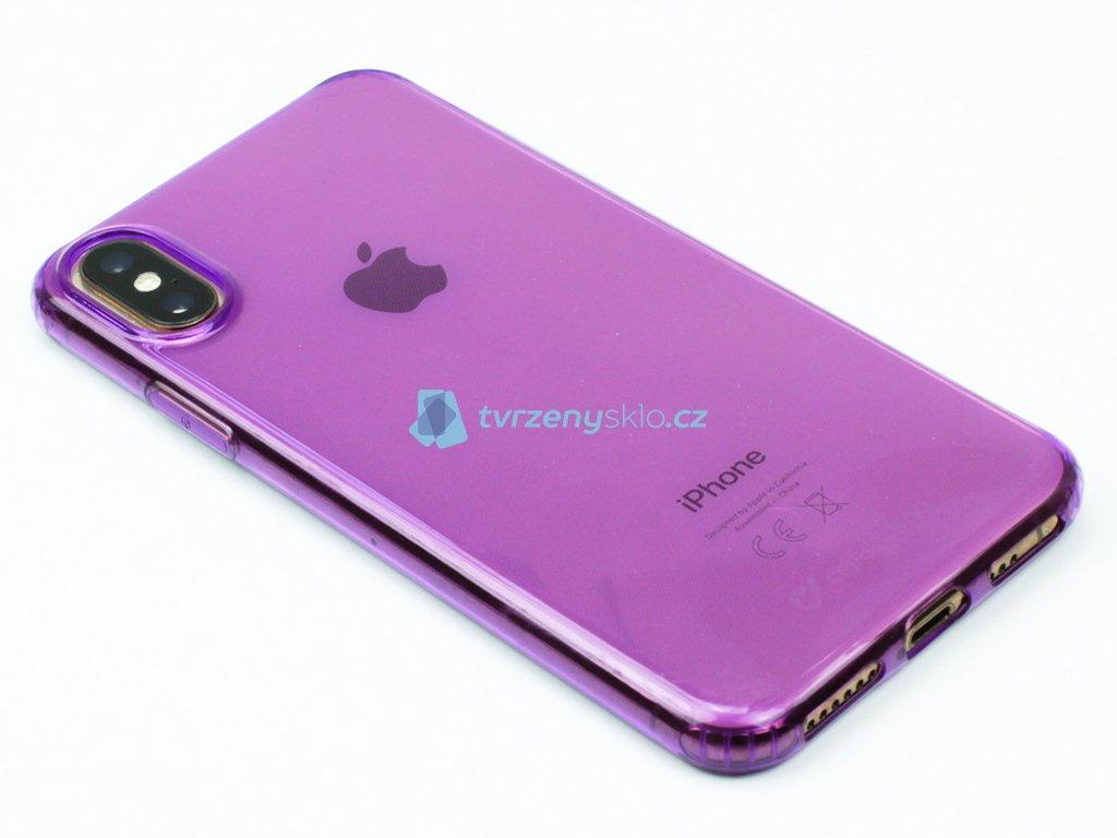 Gumové pouzdro Cellularline pro iPhone X,XS Fialové