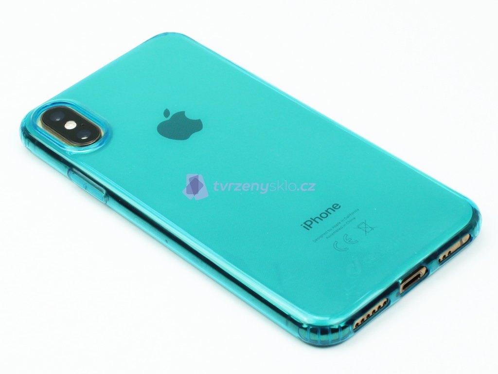 Gumové pouzdro Cellularline pro iPhone X,XS ZelenoModré