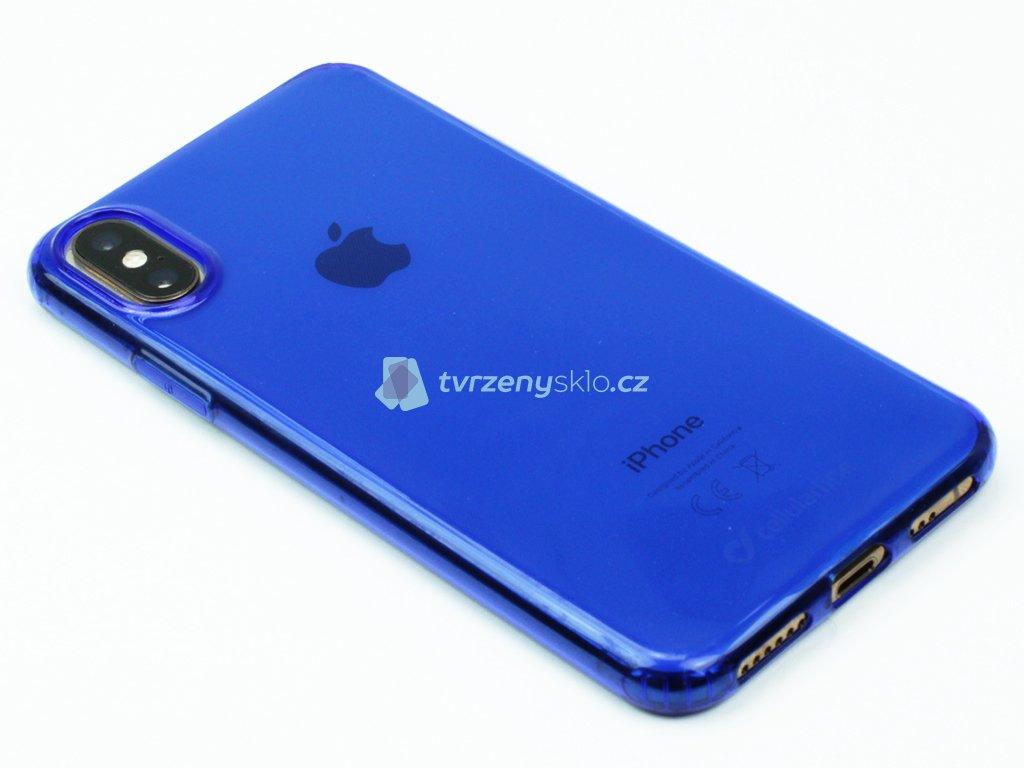 Gumové pouzdro Cellularline pro iPhone X,XS Modré