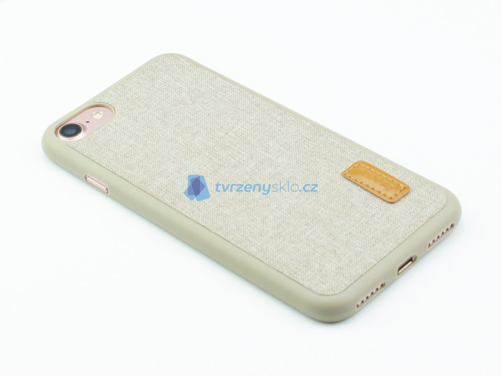 Gumovolátkový obal Baseus Grain pro iPhone 7, 8 Světe Hnědá
