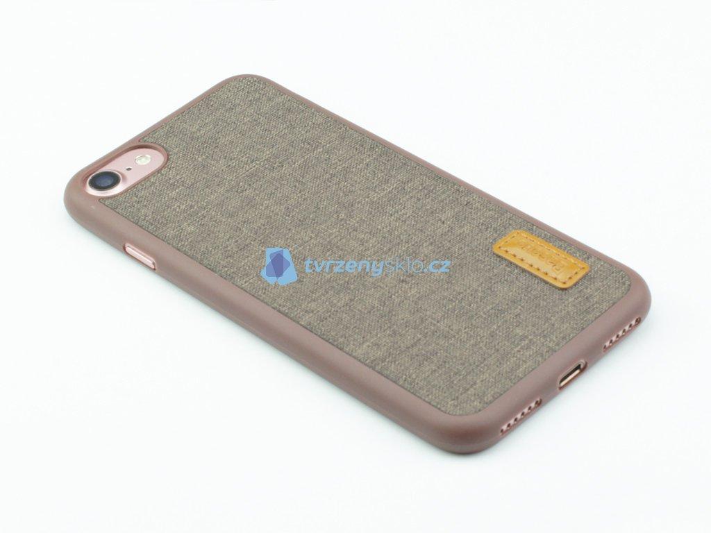 Gumovolátkový obal Baseus Grain pro iPhone 7, 8 Hnědá