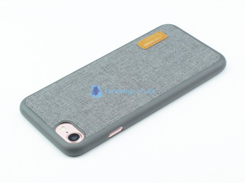 Gumovolátkový obal Baseus Grain pro iPhone 7, 8 Šedá