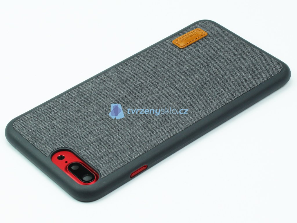 Gumovolátkový obal Baseus Grain pro iPhone 7 Plus, 8 Plus Šedá
