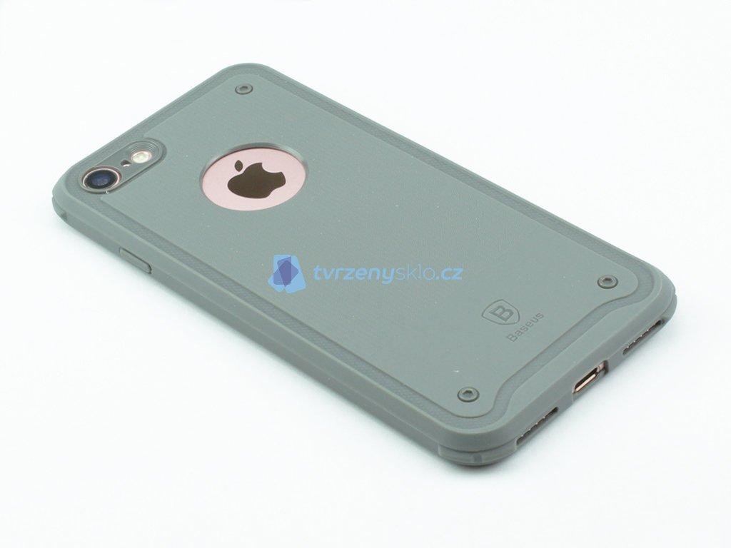 Gumový obal Baseus shield pro iPhone 7,8 Šedý