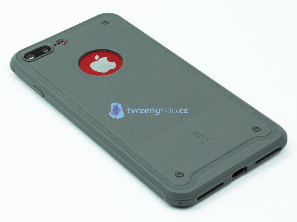 Gumový obal Baseus shield pro iPhone 7 Plus, 8 Plus Šedý