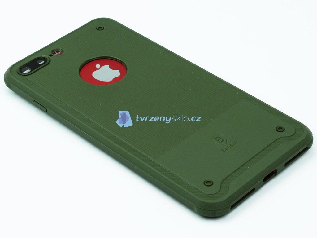 Gumový obal Baseus shield pro iPhone 7 Plus, 8 Plus Zelený